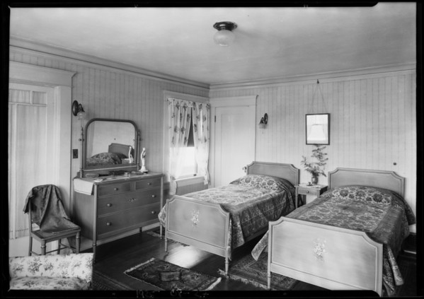 Interiors at 551 South Oxford, Southern California, 1925