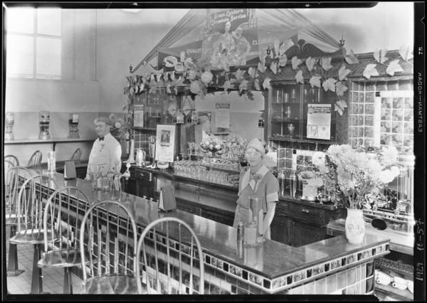 Green Lantern Soda Fountain interior, Southern California, 1929