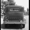 Rear view of Buick sedan, Southern California, 1931