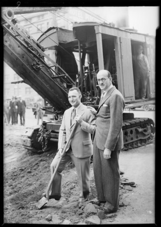 Ground breaking, new store, Southern California, 1929