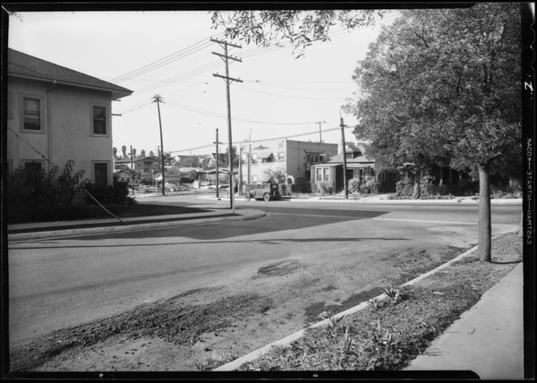Intersection, South Berendo Street & San Marino Street, Los Angeles, CA, 1931