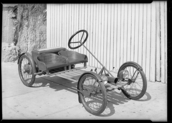 Electric automobile, Southern California, 1928