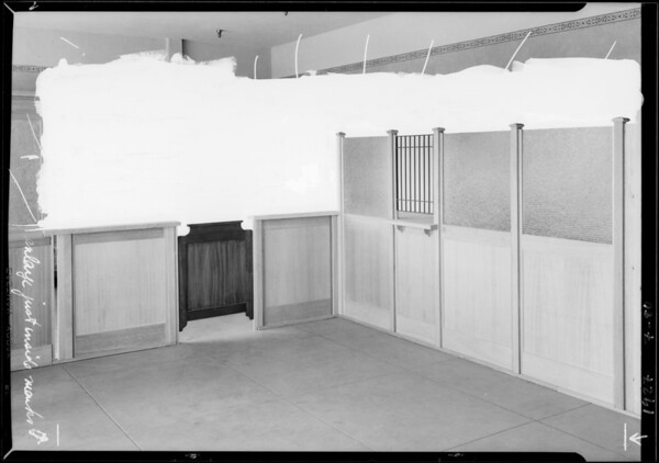 Bank partitions at Wheat Cabinet Co., Southern California, 1927
