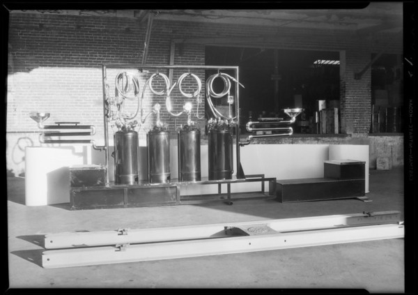 Model lubrication department set up, Pennzoil, Southern California, 1931