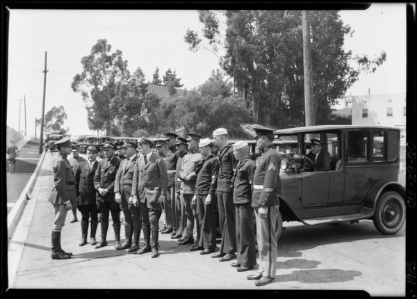 Taxi mobilization, Southern California, 1925