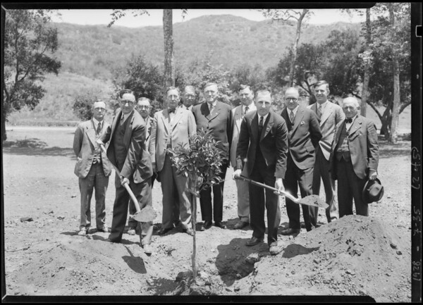Orange tree planted, California Botanic Garden, Southern California, 1928