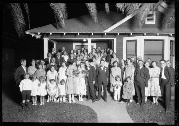 Mr. Chamberlain Wedding, Southern California, 1925