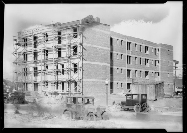 New buildings in Pellissier tract, Southern California, 1928