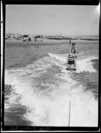 At Balboa Island, Newport Beach, CA, 1928