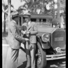 E. Clair Overholtzer - Undertakers, ambulance, Southern California, 1928