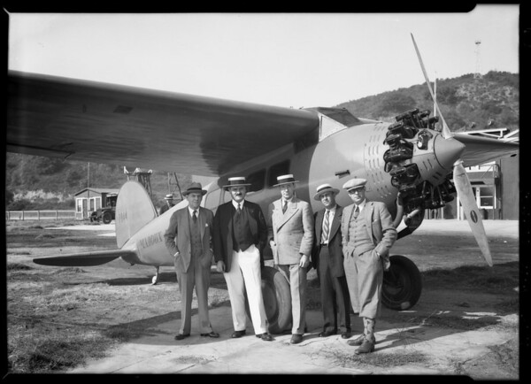 Maddux Lockheed at Griffith Park field, Los Angeles, CA, 1928