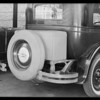 Tire and trunk cover, Southern California, 1930