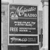 Radio signs, Southern California, 1928