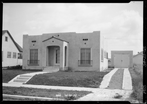 3012 West 73rd Street, Los Angeles, CA, 1925