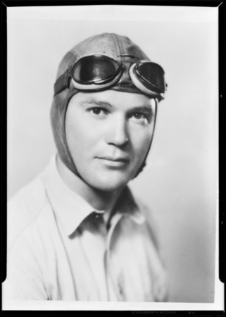 Portrait of Lieutenant Tomlinson, Maddux Air Lines, Southern California, 1930