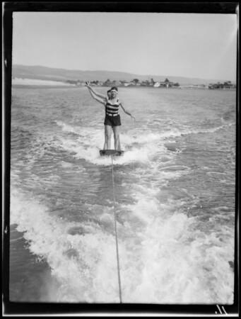 Aqua planing etc. at Lido Isle, Newport Beach, CA, 1928