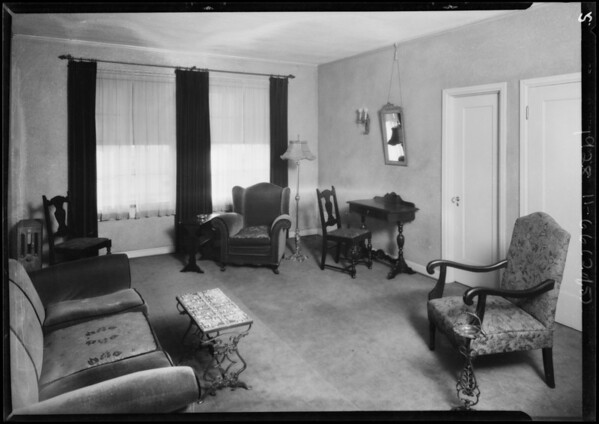 Flemming apartments, Southern California, 1928