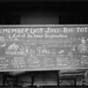 "Blackboard ""Remember Last July's Big Total"", Southern California, 1925"