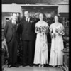 Wedding group, Charles L. Smith, Southern California, 1931