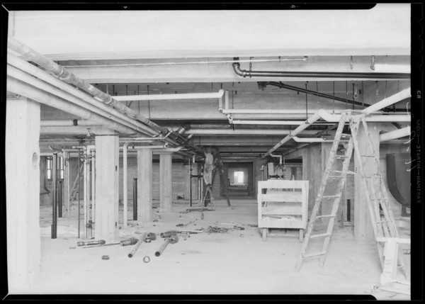 County Hospital work, Howe Brothers Plumbing, Los Angeles, CA, 1931