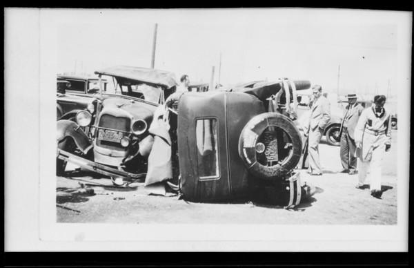 Auto crash, Southern California, 1931