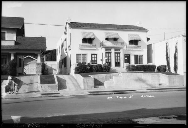 2951 Francis Avenue, Los Angeles,CA, 1925
