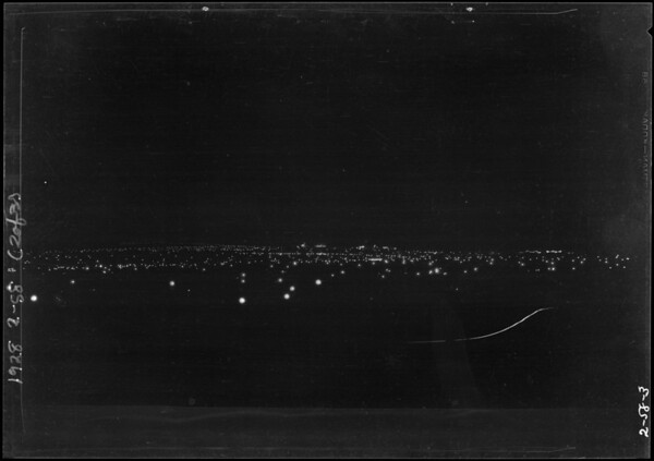 Night views from Margarita Peak, Southern California, 1928