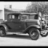 Ford coupe, East 74th Street and Compton Avenue, Los Angeles, CA, 1931