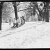 Oak Glen snow scenes, Southern California, 1928