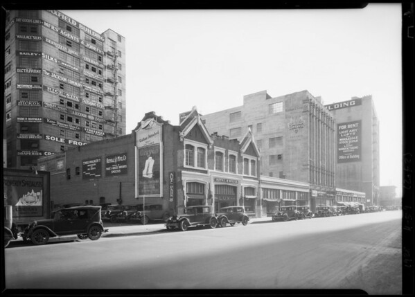 Lux building showing high buildings near, Southern California, 1928