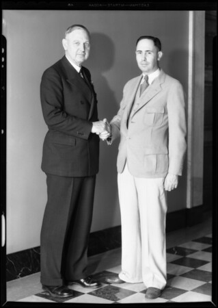 Mayor Porter & Frank Dillon, Southern California, 1931