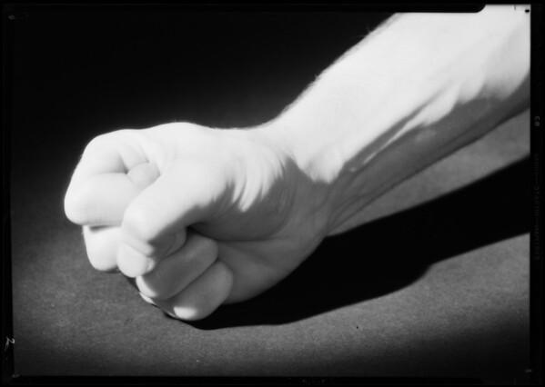 Man's fist, Southern California, 1931