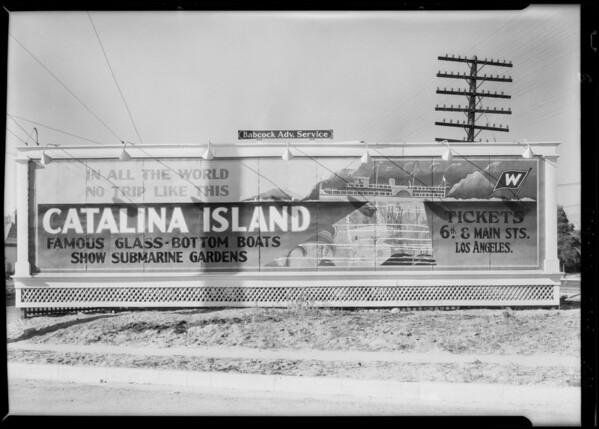 Signboard at Washington and Crenshaw, Southern California, 1928
