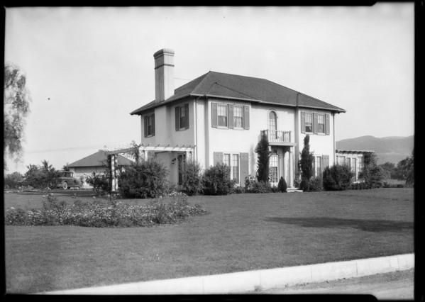 Newton Home, Meadow Grove, Flintridge, CA, 1925