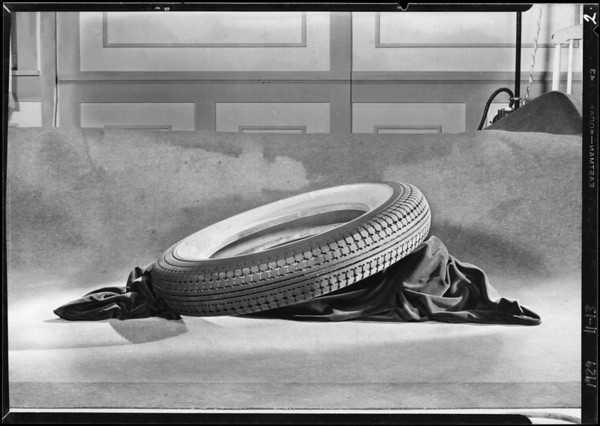 Tire as per drawing, Southern California, 1929