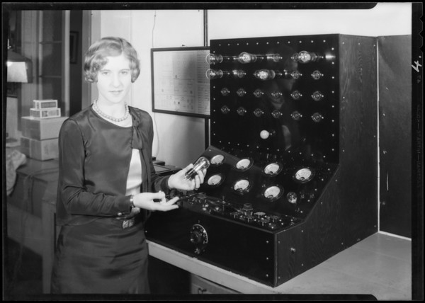 Tube testing machine, Atwater Kent Radio, Southern California, 1930