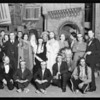 Groups of players and Indians on stage, Freiburg Passion Play Co., Southern California, 1930