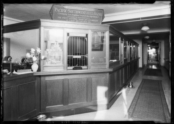 Pacific-Southwest Trust & Savings Bank - Ambassador Branch, Southern California, 1924