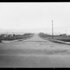 Finished street at Pico Boulevard tract, Southern California, 1927