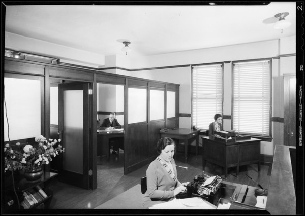 Office interiors, J. Walter Thompson Co., Southern California, 1931