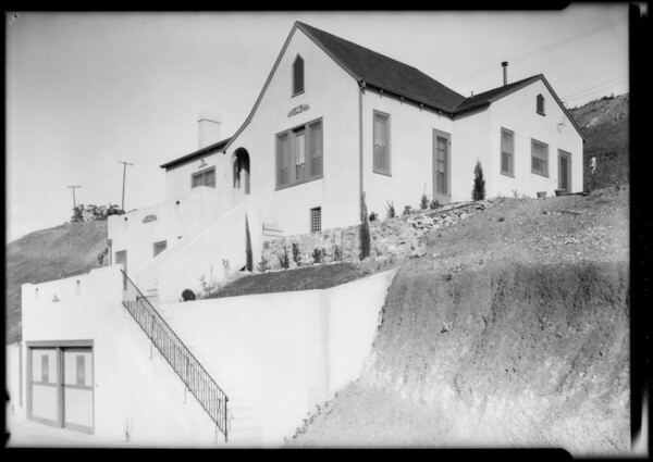 Houses at Silver Lake Terrace, Los Angeles, CA, 1925