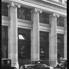 Exterior of building entrance, West 6th Street and South Spring Street, Los Angeles, CA, 1929