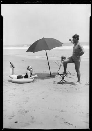 Car at beach - Helen Lambert, Southern California, 1928