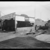 Trout service station, old grease rack, Southern California, 1931