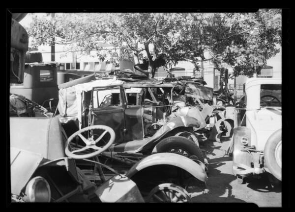 Wreck yard, Southern California, 1931