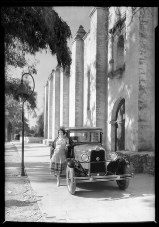 Ruthellen Miller at San Gabriel Mission, San Gabriel, CA, 1928