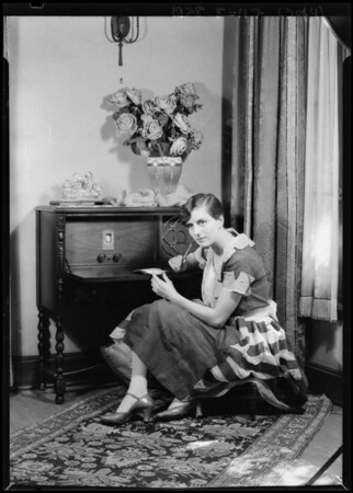 Alice Calhoun & Wurlitzer Radio, Southern California, 1928
