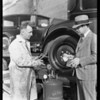 Gauge on grease tank for publicity, Southern California, 1928
