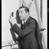 Edward Everett Horton backstage, Southern California, 1929