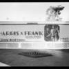 Harris & Frank sign, Southern California, 1930